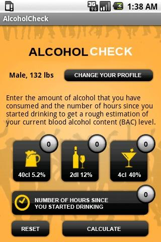Alcoholcheck - screenshot