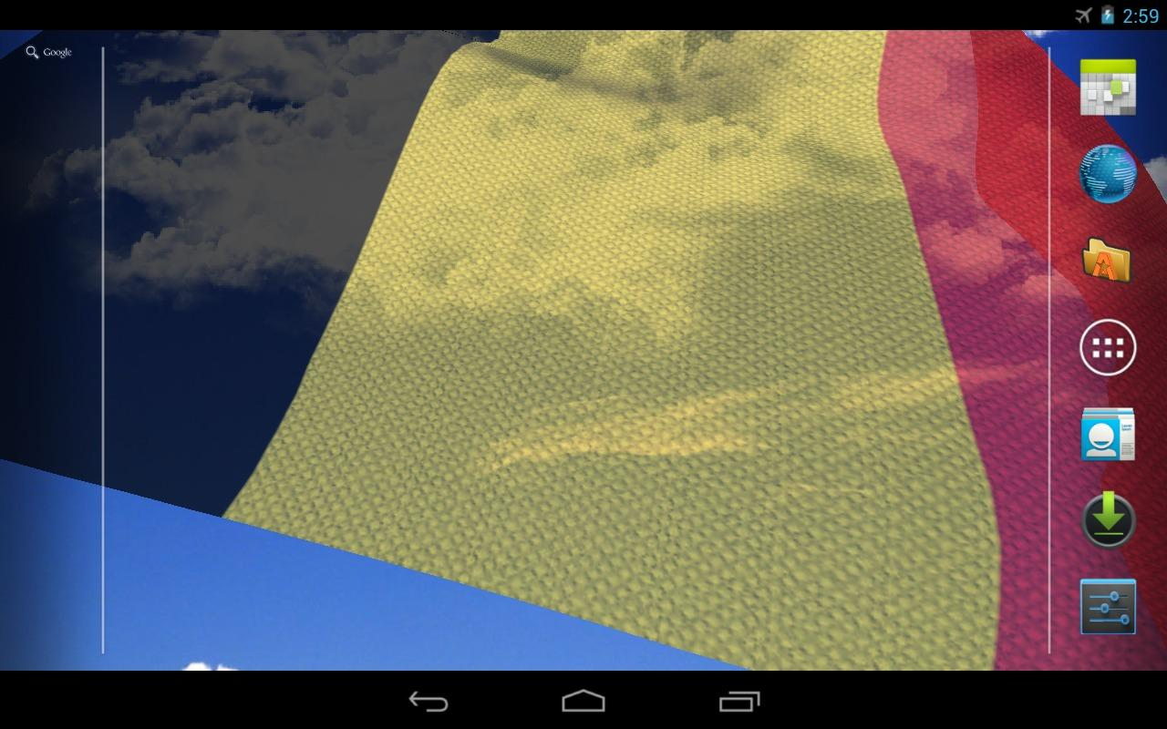 3D Belgium Flag Live Wallpaper- screenshot