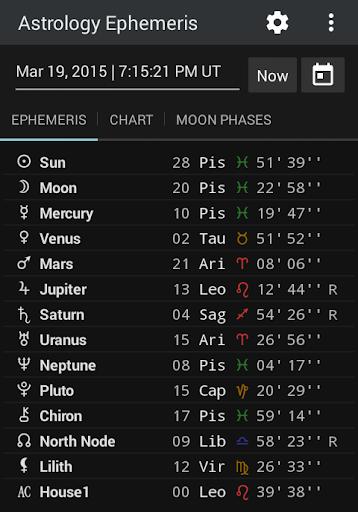 Astrology Ephemeris for PC