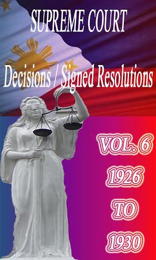 Phil Supreme Court Vol. 6