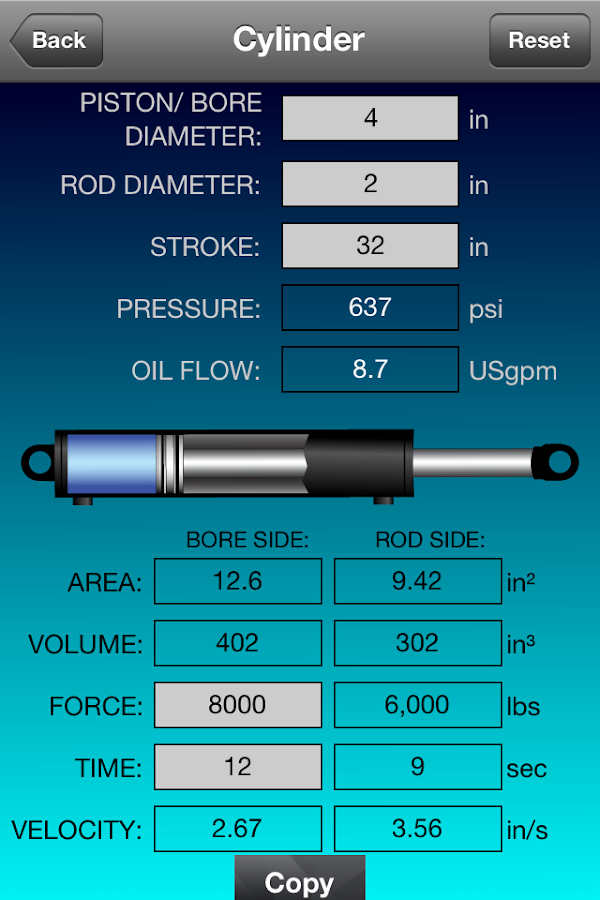 Hydraulic Calculator- screenshot