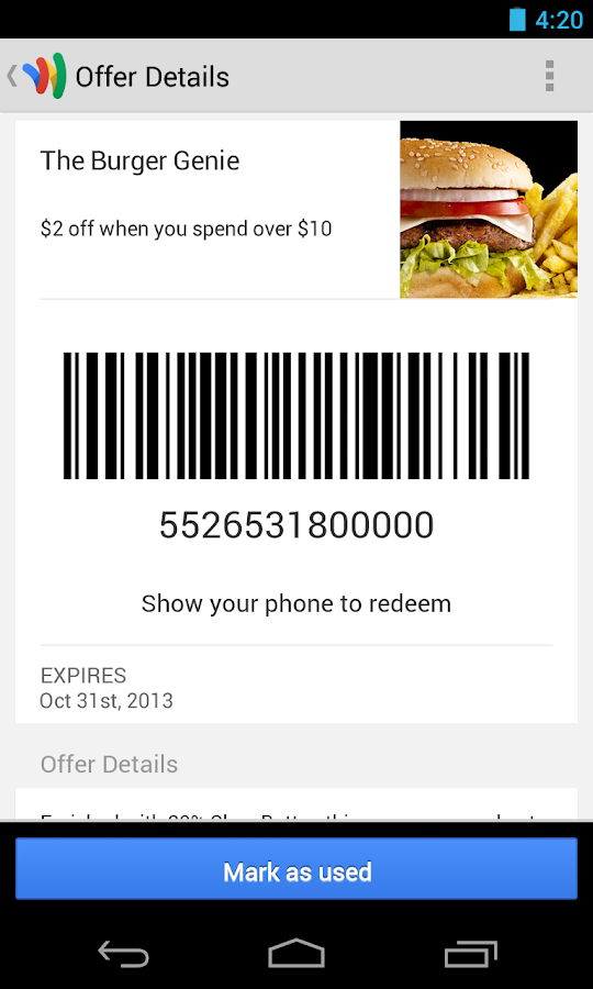 Google Wallet - screenshot