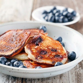 Oatmeal Blueberry Protein Pancakes.