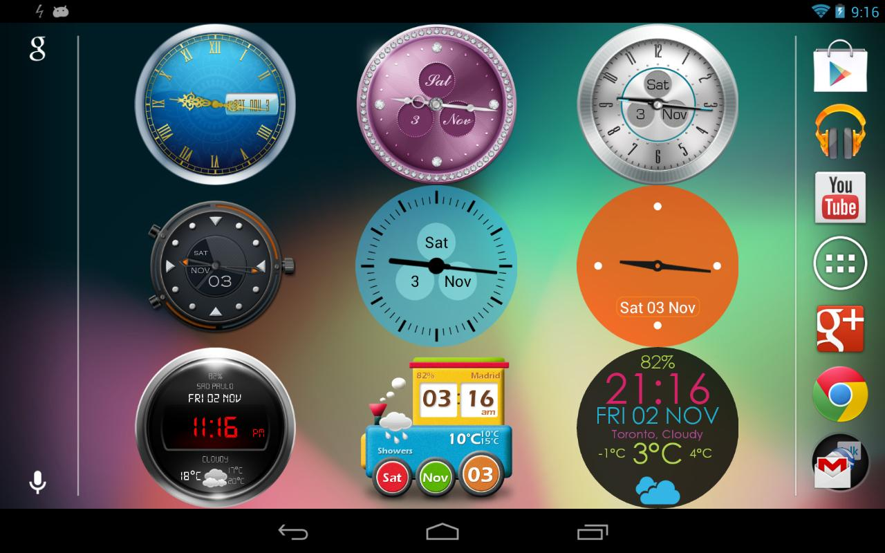 Beautiful Clock Widgets- screenshot