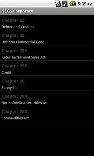 NC General Statutes - Corp