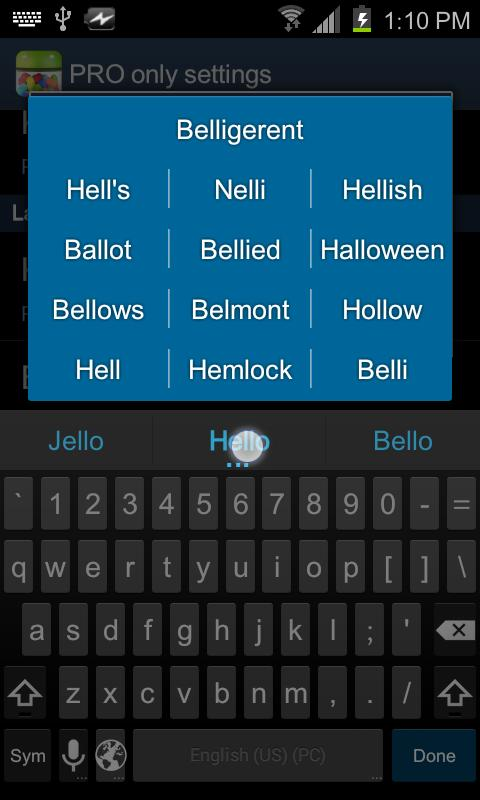 Jelly Bean Keyboard PRO - screenshot