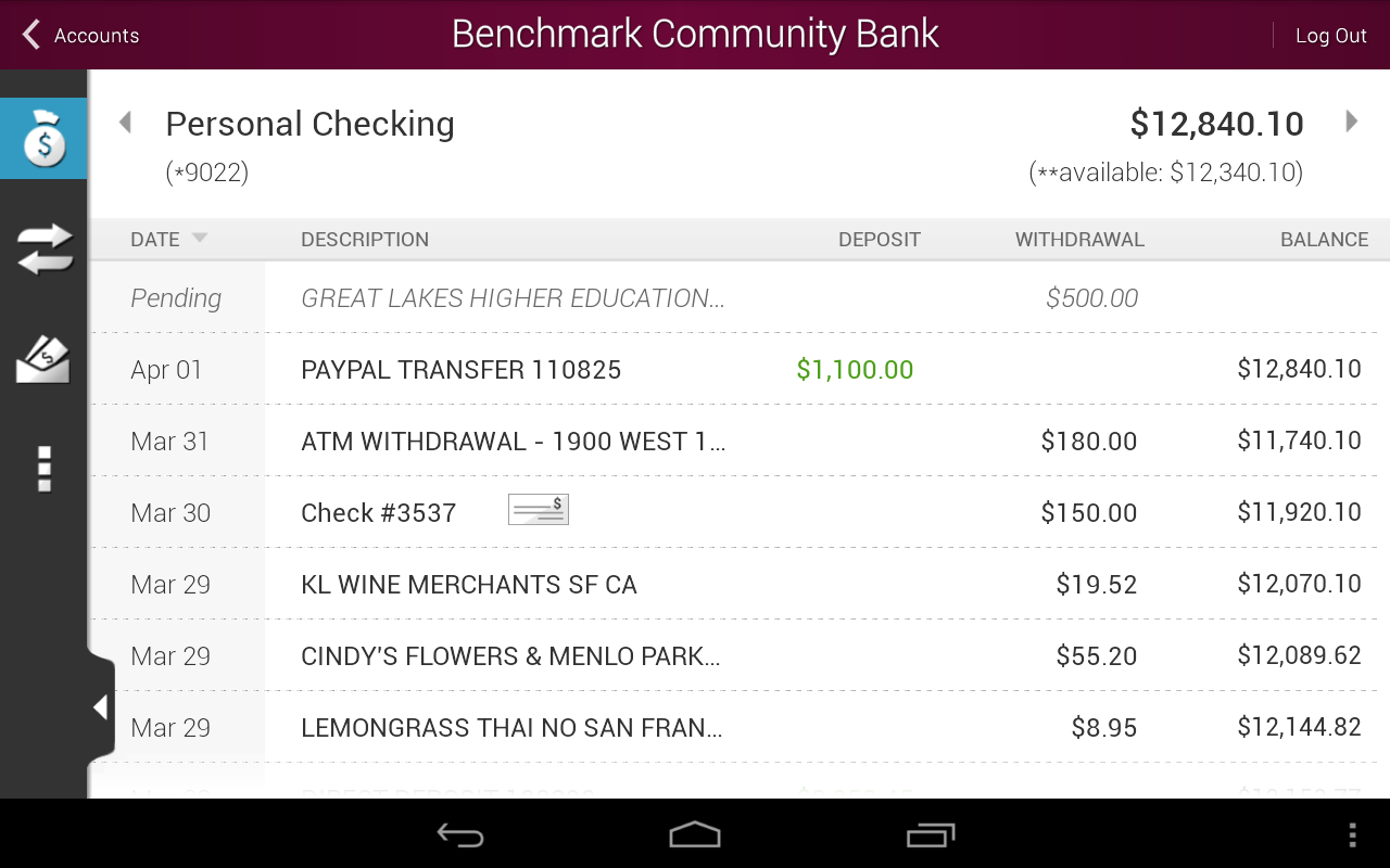 Benchmark Community Bank - screenshot