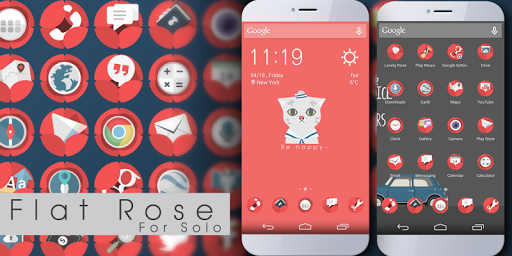 Flat Rose Icons Wallpapers
