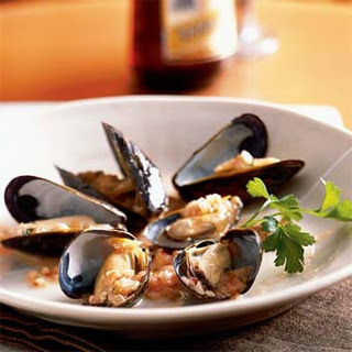 Thai-Style Mussels with Pickled Ginger.