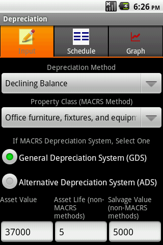 Depreciation Calculator Pro - screenshot