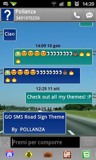 玩個人化App|GO SMS臨路標主題免費|APP試玩