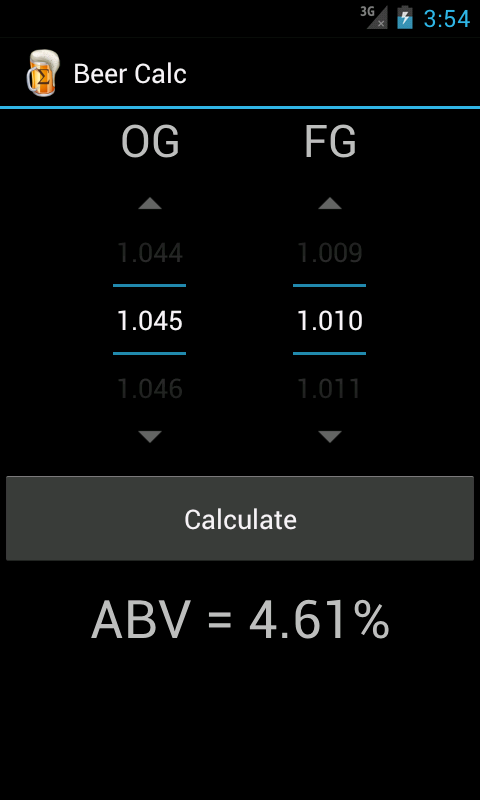 Beer Calc - screenshot
