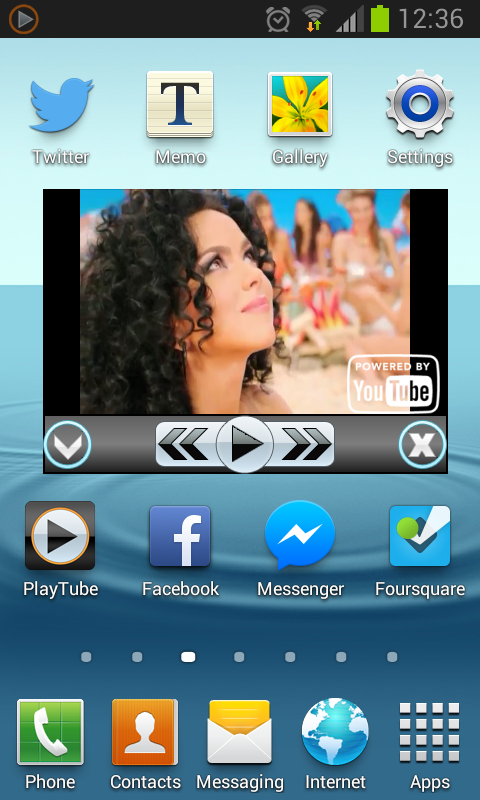 PlayTube for YouTube demo - screenshot