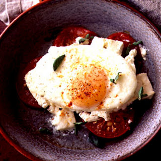 Baked Eggs with Feta.