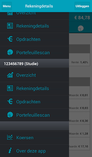 Screenshots #1. Mijn Robeco / Android