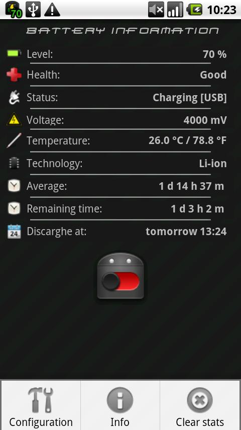 Battery Saver Widget - screenshot