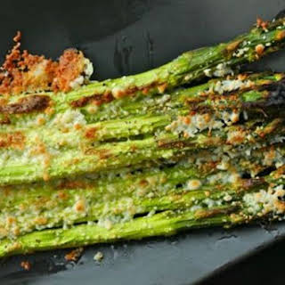 Broiled Asparagus with Cotija Cheese.