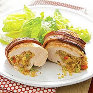 Bacon-Wrapped Jambalaya-Stuffed Chicken.