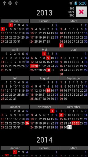 AT Holidays Annual Calendar