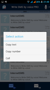 Write SMS by voice- screenshot thumbnail