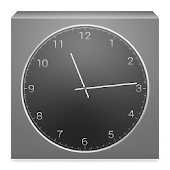 Clock Widget - Dark Metal