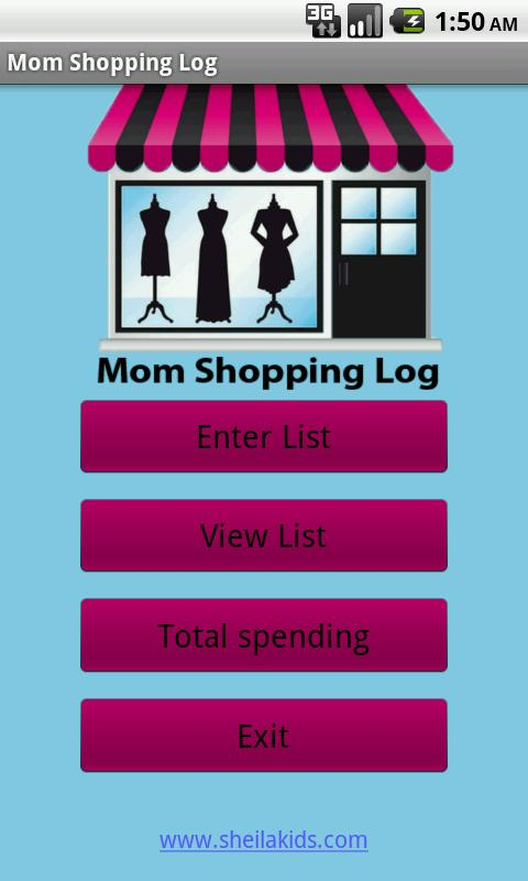 Mom Shopping Log- screenshot