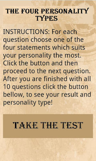 The 4 Types - Personality Test