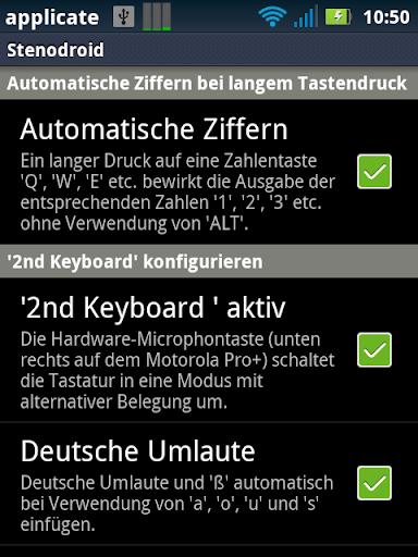 Stenodroid Pro Motorola Pro+