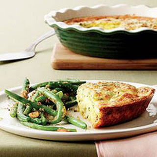 Roasted Cauliflower Quiche with Garlicky Green Beans