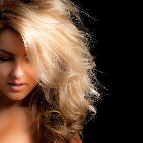 Blonde by Jeff Klein - People Portraits of Women ( studio, julie, model, girl, female, hair, portrait )