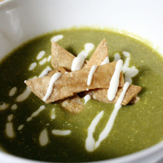 Crema De Chile Poblano (Roasted Chile Poblano Soup).