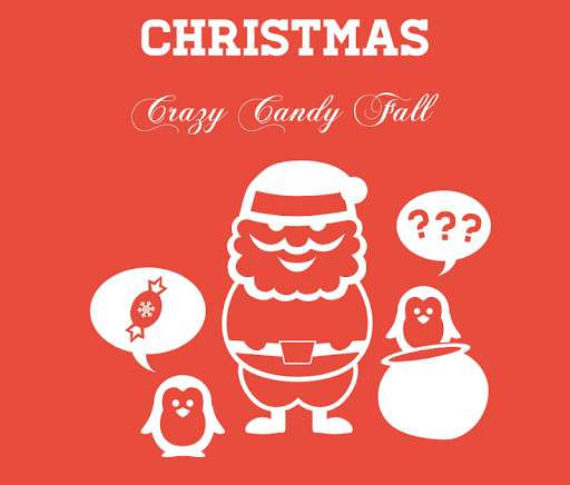 Crazy Christmas Candy Fall