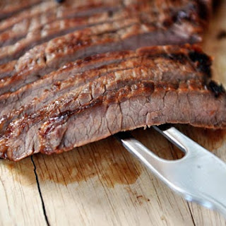 Grilled Honey and Ginger Marinated Flank Steak