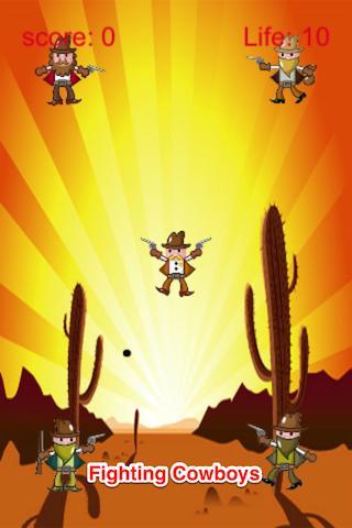 カウボーイバトル:砂漠シュート