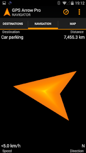 GPS Arrow Navigator PRO- screenshot thumbnail