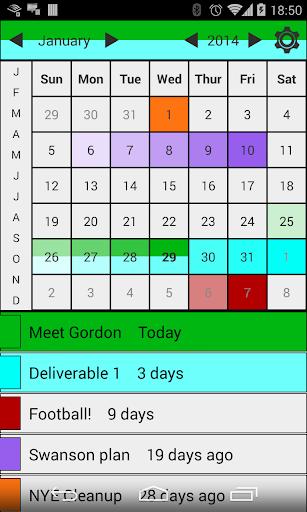締め切りカレンダー