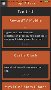 Rewards1 Mobile App screenshot 2