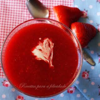 Fresh Strawberry Soup.