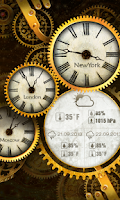 Screenshot of Gold Clock Live Wallpaper HD