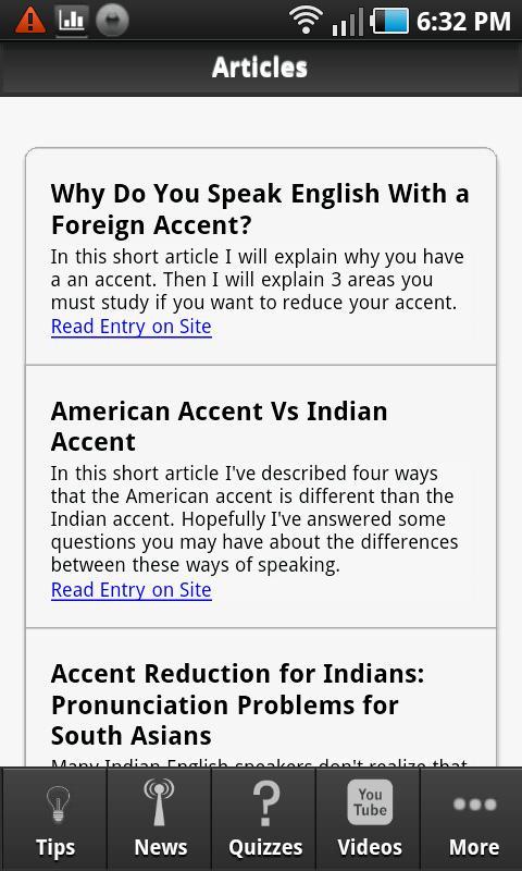 American Accent Tips- screenshot