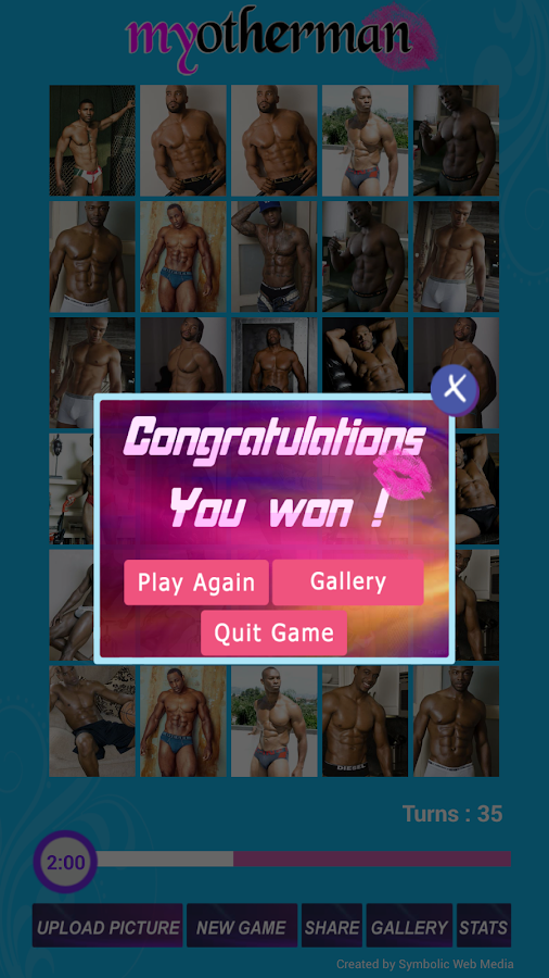 My Other Man Memory Game - screenshot