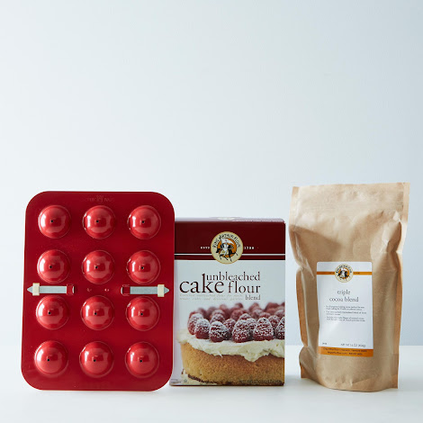 Donut Hole Pan, Triple Cocoa & Cake Flour Bundle