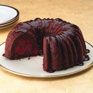 Chocolate Cherry Cake with Rum Ganache
