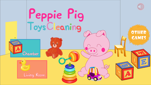 Peppie Pig Toys Cleaning Room