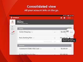 Screenshot of Scotiabank Mobile Banking