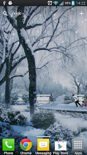 Snow In The Park LWP Free - screenshot thumbnail