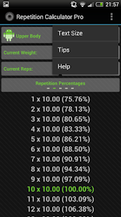 Rep Calc Pro (1 Rep Max) - screenshot thumbnail