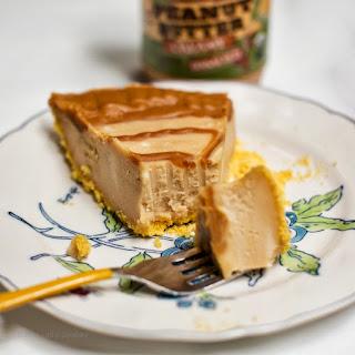 Triple Peanut Butter Swirl Vegan Cheesecake