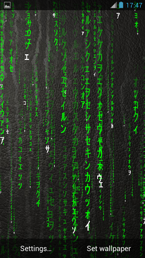 matrix 3d live wallpaper android apps on google play