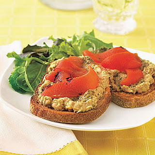 White Bean and Red Pepper Toast